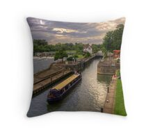 The River Thames at Goring Throw Pillow