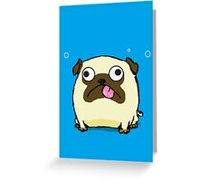 Silly Pug Sticking Out Tongue Greeting Card