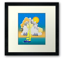Sailing-Vector Image Framed Print