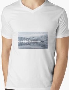 Winter scene Mens V-Neck T-Shirt