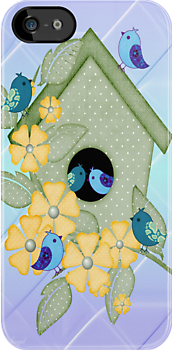 Cute Birdhouse .. iPhone case by LoneAngel