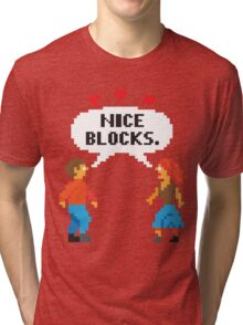 NICE BLOCKS Tri-blend T-Shirt