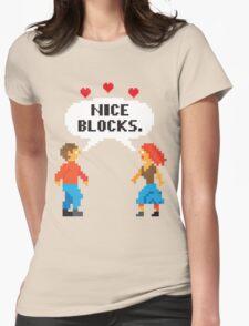 NICE BLOCKS Womens Fitted T-Shirt