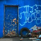 Battered Blue by Honario
