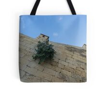 Life on Bare Rock - Up on the Citadel Wall in Victoria, Gozo Tote Bag