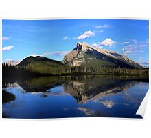 Mount Rundle and Vermillion Lake Poster
