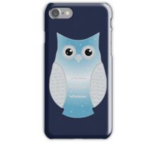 Light Blue Snow Owl iPhone Case/Skin
