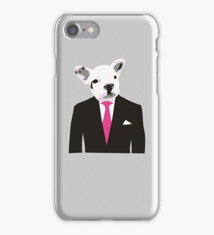 Bulldog man iPhone Case/Skin