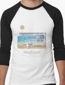 Beach Cities. Hermosa Beach Men's Baseball ¾ T-Shirt