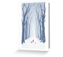 A Snowy Walk in the Woods Greeting Card