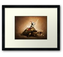 Knight of the Chinchilla Framed Print