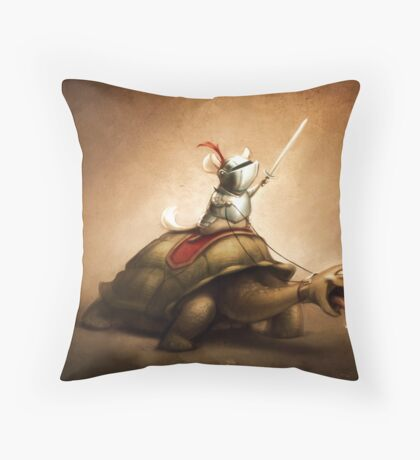 Knight of the Chinchilla Throw Pillow