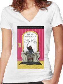 Aryaloise Women's Fitted V-Neck T-Shirt