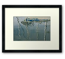 Water Play - Abstract Boat and Bicycle Reflections Framed Print