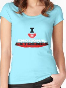 I HEART EMOTIONAL EXTREMES Women's Fitted Scoop T-Shirt