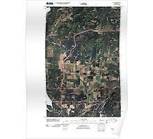 USGS Topo Map Washington State WA Elk 20110429 TM Poster