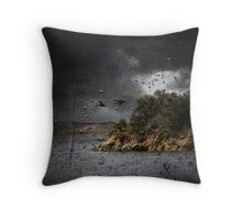 Storm At The Lake Throw Pillow