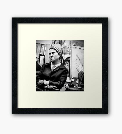 Greenwich Village Mona Lisa Framed Print