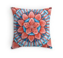 Frosted Cherry Blossom Throw Pillow