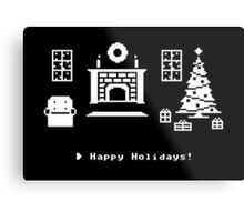 8-Bit Holiday Metal Print