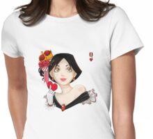 Reina de corazones Womens Fitted T-Shirt