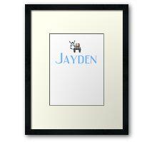 Jayden name DONKEY CUTE LITTLE BOYS shirt Framed Print