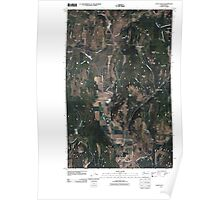 USGS Topo Map Washington State WA Echo Valley 20110406 TM Poster