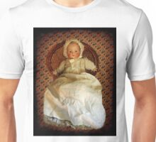 ANTIQUE VINTAGE DOLL-PILLOW-JOURNAL-TOTE BAG-PICTURE-ECT. Unisex T-Shirt