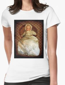 ANTIQUE VINTAGE DOLL-PILLOW-JOURNAL-TOTE BAG-PICTURE-ECT. Womens Fitted T-Shirt