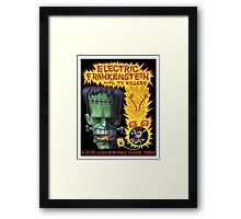 Electric Frankenstein Gig Poster Framed Print