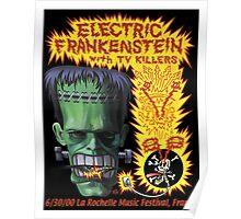 Electric Frankenstein Gig Poster Poster