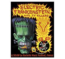 Electric Frankenstein Gig Poster Photographic Print