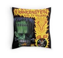 Electric Frankenstein Gig Poster Throw Pillow