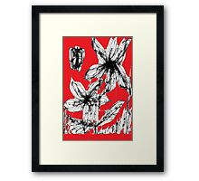 Red Spring Flowers Framed Print