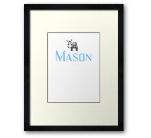 Mason name DONKEY CUTE LITTLE BOYS shirt Framed Print