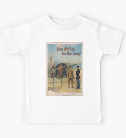 Men wanted for the army Kids Tee
