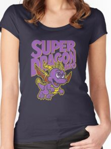 Super Dragon Bro Women's Fitted Scoop T-Shirt
