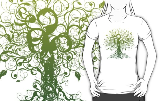 Meditate, Meditation, Spiritual Tree Yoga T-Shirt  by T-ShirtsGifts