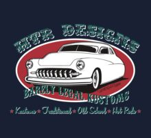 HTR Designs Barely Legal Kustoms garage Kids Tee