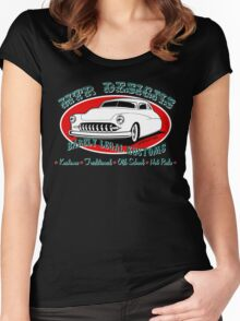 HTR Designs Barely Legal Kustoms garage Women's Fitted Scoop T-Shirt