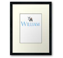 William name DONKEY CUTE LITTLE BOYS shirt Framed Print