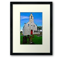 Manx Church & Cemetery  Framed Print