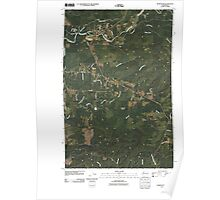 USGS Topo Map Washington State WA Humptulips 20110418 TM Poster