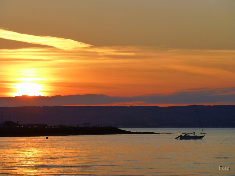 Sunset Over Bangor Bay by Fara