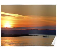 Sunset Over Bangor Bay Poster