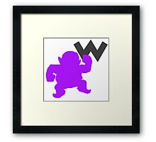 Smash Bros - Wario Framed Print