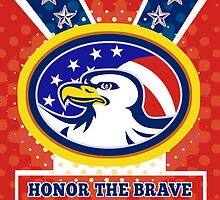 American Eagle Memorial Day Poster Greeting Card by patrimonio