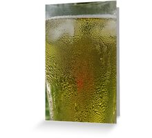 Cold one on a hot day Greeting Card