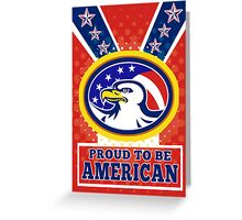 American Proud Eagle Independence Day Poster Greeting Card Greeting Card