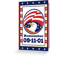 American Eagle Patriot Day 911  Poster Greeting Card Greeting Card